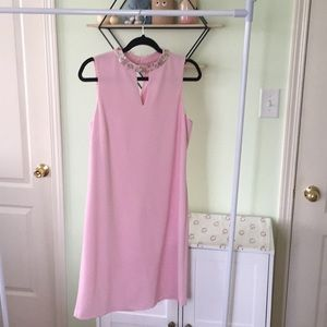 Nine West Women's Sleeveless Mock Neck Shift Dress